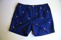Polo Ralph Lauren Navy Blue Holiday Prepster Swim Shorts Trunks Flags (XL)