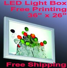 "A1 Led Aluminum Frame Light Box 36"" x 26"" Free Printing Poster Backlit Lightbox"
