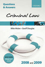 Criminal Law: 2008-2009 by Mike Molan, Geoff Douglas (Paperback, 2008)