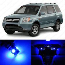 12 x Blue LED Lights Interior Package Deal For Honda PILOT 2006 - 2008