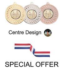 Offre spéciale 10 x Dix Quilles Métal 50 mm médailles & Ruban
