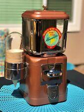 Oak Acorn 5 Cent Almondettes Planters Vending Machine w/Glass Cup Dispenser
