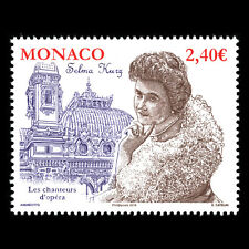 "Monaco 2018 - Opera Singers ""Selma Kurz, 1874-1933"" Music - MNH"