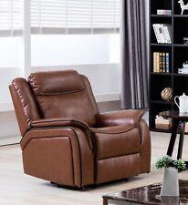 Tan Brown High Grade Leather Gel Recliner Reclining Armchair NEWBURY