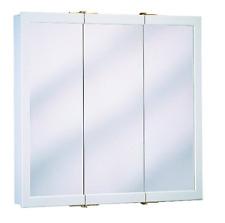 ZENITH Surface Mount Medicine Cabinet 24-in Three Mirror View Adjustable Shelves