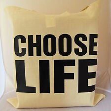 1980's choose life slogan Tote Bag for pefect gift for an 80's lover