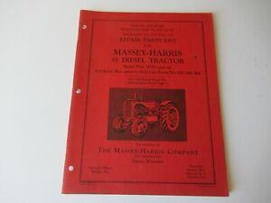 1954 Massey-Harris 55 tractor parts book catalog manual