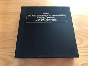 LIMITED EDITION US COLUMBIA GMS 765 MAHLER - THE NINE SYMPHONIES *BERNSTEIN* EX