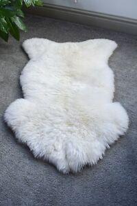 Sheepskin Lambskin Rug Rugs Thick Real Wool Creamy White Lamb Skin Sheep luxury
