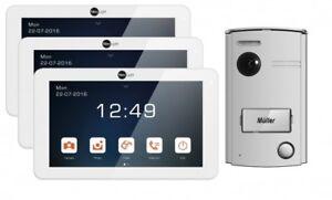 """Videotürsprechanlage für 1-Familienhaus NeoLight 2-Draht mit 3x7"""" Display"""