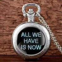 Steampunk Vintage Pocket Watch Chain Pendant Antique Quartz Movement Mens Women