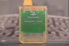 MEMORY CARD TARJETA DE MEMORIA CLEAR PLAYSTATION PS1 PSX COMBINED SHIPPING