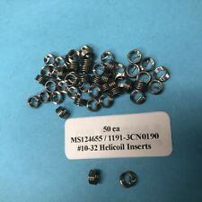 50 Helicoil #10-32 Helical Inserts Stainless 1191-3CN-190 MS124655