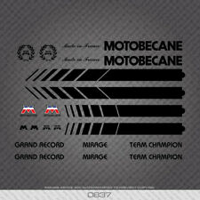 Motobecane Bicycle Frame Stickers - Mirage - Team Champion - Grand Record Decals