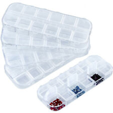 1PC 12Grids Plastic Diamond Embroidery Fashion Jewelry Storage Box Case Beauty