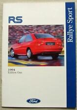 FORD ESCORT RALLYE SPORT Sales Brochure March 1994 #FA906/18 RS2000 RS Cosworth