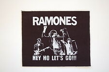 "Ramones Cloth Patch Sew On Badge Punk Rock Approx. 5""X4"" (CP82)"