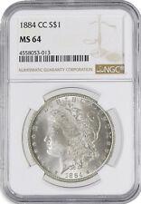 1884 CC $1 Morgan Silver Dollar VAM 5 Far Date CC/CC NGC MS64