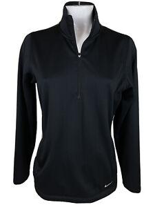 Nike Golf Tour Performance Long Sleeve 1/4 Zip Sweatshirt Womens L Black T243