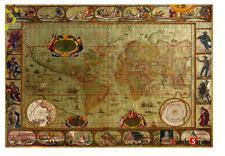 "Jigsaw Puzzles 1000 Pieces ""Blaeus World Map : Gold Type"""