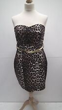BNWT Animal Print Belted Strapless Dress from Jane Norman size 12