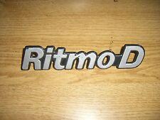 Emblem / Badge Heckklappe Trunk Fiat Ritmo Diesel D Plastik