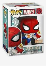 FUNKO POP! MARVEL #672 SPIDER-MAN WITH PIZZA- BOX LUNCH EXCLUSIVE! IN HAND!