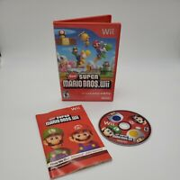 New Super Mario Bros. Wii (Nintendo Wii, 2009) Complete CIB Tested Working Great