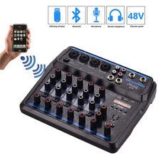 6 Channels Mixing Console Bluetooth USB Record Professional Audio Mixer DJ KTV