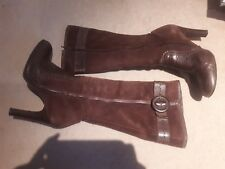 Brown Suede & Leather Boots Size 37 (4)