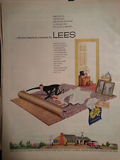 1954 Retro Heavenly Carpets by Lees Bride Groom Rolling Rug Color Ad