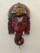 Hindu God Ganesh Wall Sculpture Bust Statue Ganesha Vintage Figure Murti Decor