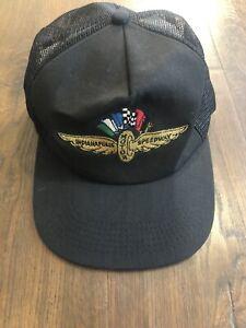 Vtg K Products Indianapolis 500 Mesh Snapback Trucker Hat Cap Adjustable Racing