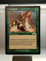 MTG Magic The Gathering 1x MANABOND Green Enchantment EXODUS Never Played!