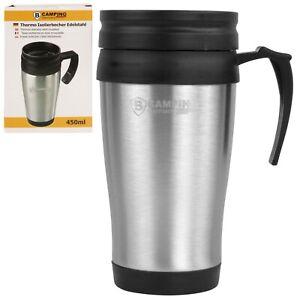 Kaffeebecher Thermobecher Isolierbecher Edelstahl 450ml heiß&kalt Becherhalter