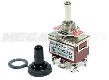 Heavy Duty 20A/125V DPDT Momentary (ON)-OFF-(ON) Toggle Switch w/Waterproof Boot