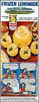 1953 California frozen lemonade mom kids pitcher vintage art Print Ad adL65