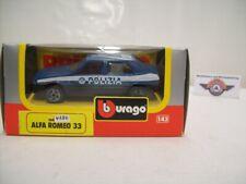 """Alfa Romeo 33"""" Polizia """"1983, Blue/Black, Bburago 1:43 (Made in Italy)"""