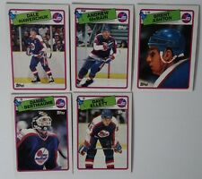 1988-89 Topps Winnipeg Jets Team Set of 5 Hockey Cards