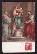 c1910 Stengel art Madonna & Child by artist Andrea Del Sarto religion postcard
