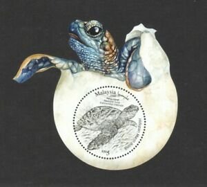 MALAYSIA 2020 ICONIC MARINE LIFE HAWKSBILL TURTLE ODD SHAPED SOUVENIR SHEET MINT