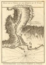 Plan de la Ville… de St. Yago. Praia Santiago Cape Verde. BELLIN/SCHLEY 1747 map