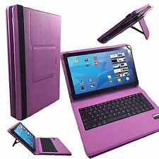 "10.1"" Quality Bluetooth Keyboard Case For Medion LifeTab P9514 - Pink"