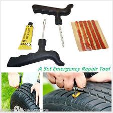 Car Motor Emergency Tubeless Tire Tyre Puncture Repair Kit 5 Strips Plug Tool