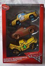 Disney Store Pixar Cars 3 T-Bone Chester Whipplefilter & Taco 1:43 Die Cast NEW
