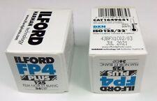 Lot de 2 films Ilford FP4 135 36 poses 125 ISO, utilisable jusqu'à juillet 2021