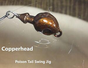 Fishing: HANDMADE POISON TAIL SWING JIGS - Metallics series