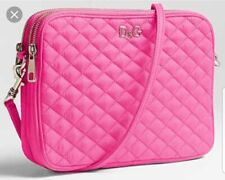 Authentic D&G Pink Lily Glam Clutch Shoulder CrossBody Bag Quilted