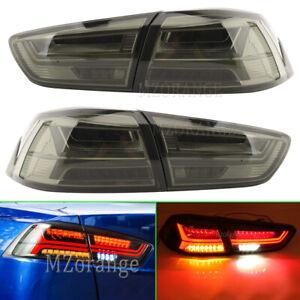 4x Smoked FULL LED Tail Light Lamps for MITSUBISHI LANCER CJ CF VRX EVO X 07-17