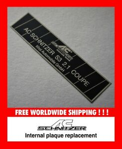 AC Schnitzer Dash Plate Plaque Replica Project ACS Coupe Cabrio E36 Quality!